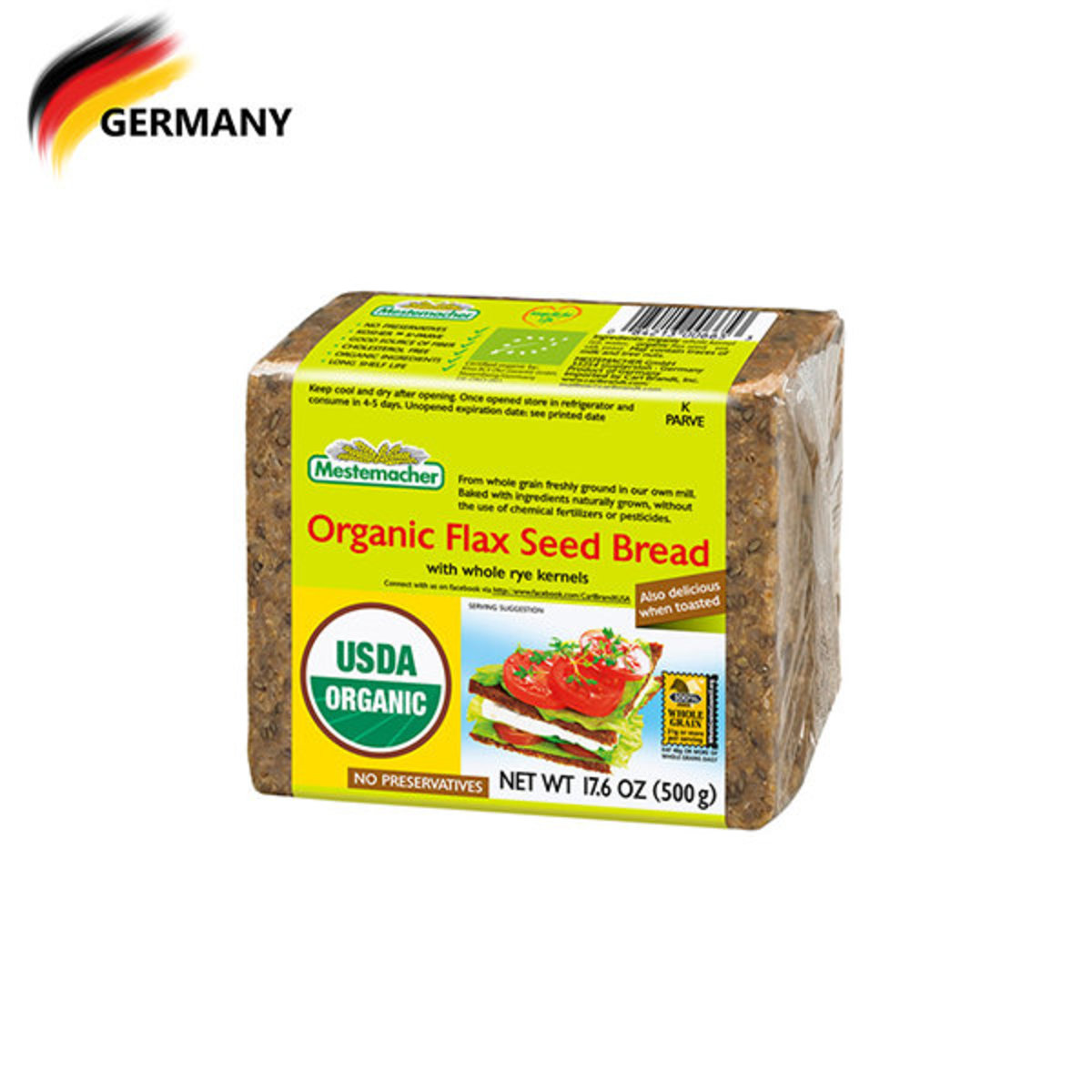 Organic Flax Seed Bread 499G (best before date: 15/01/2020)