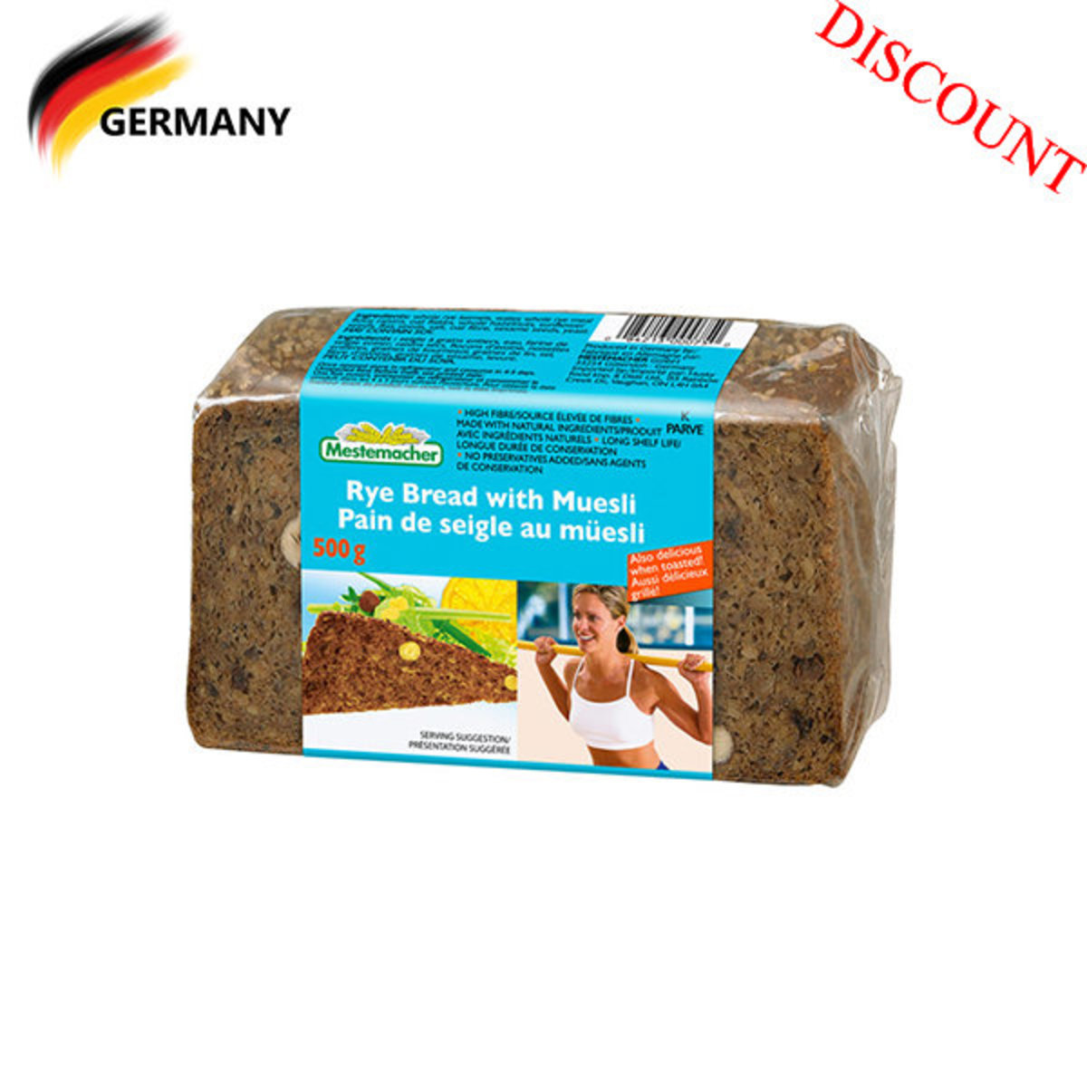 Rye Bread with Muesli 500G (best before date: 01/06/2020)