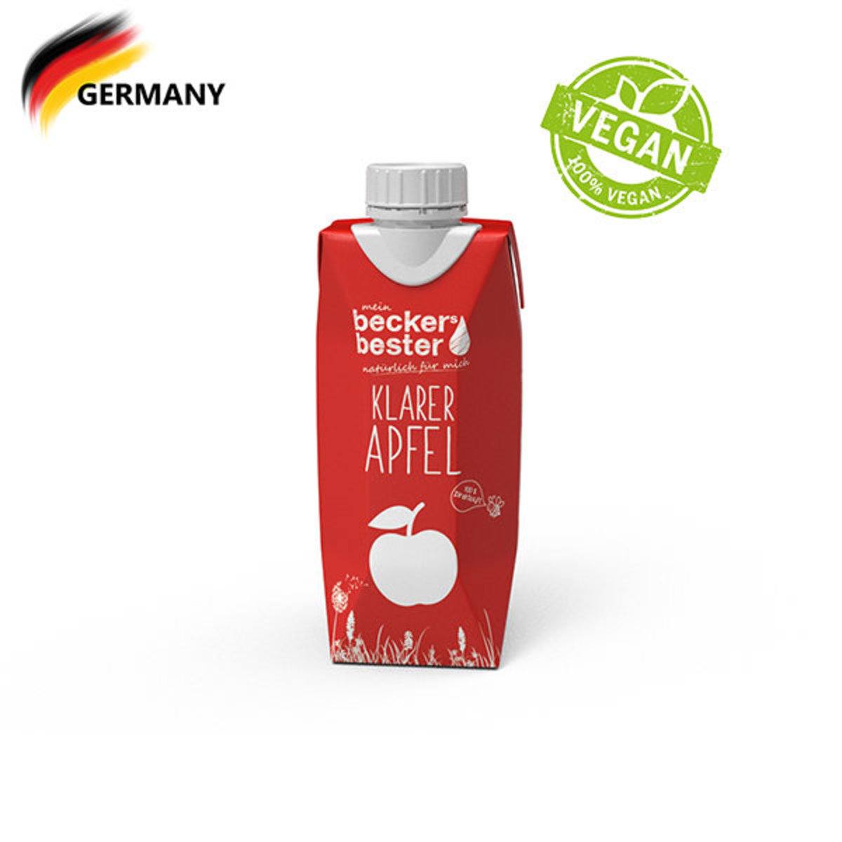 100% Direct Pressed Clear Apple Juice (Not-From-Concentrate) 330ml