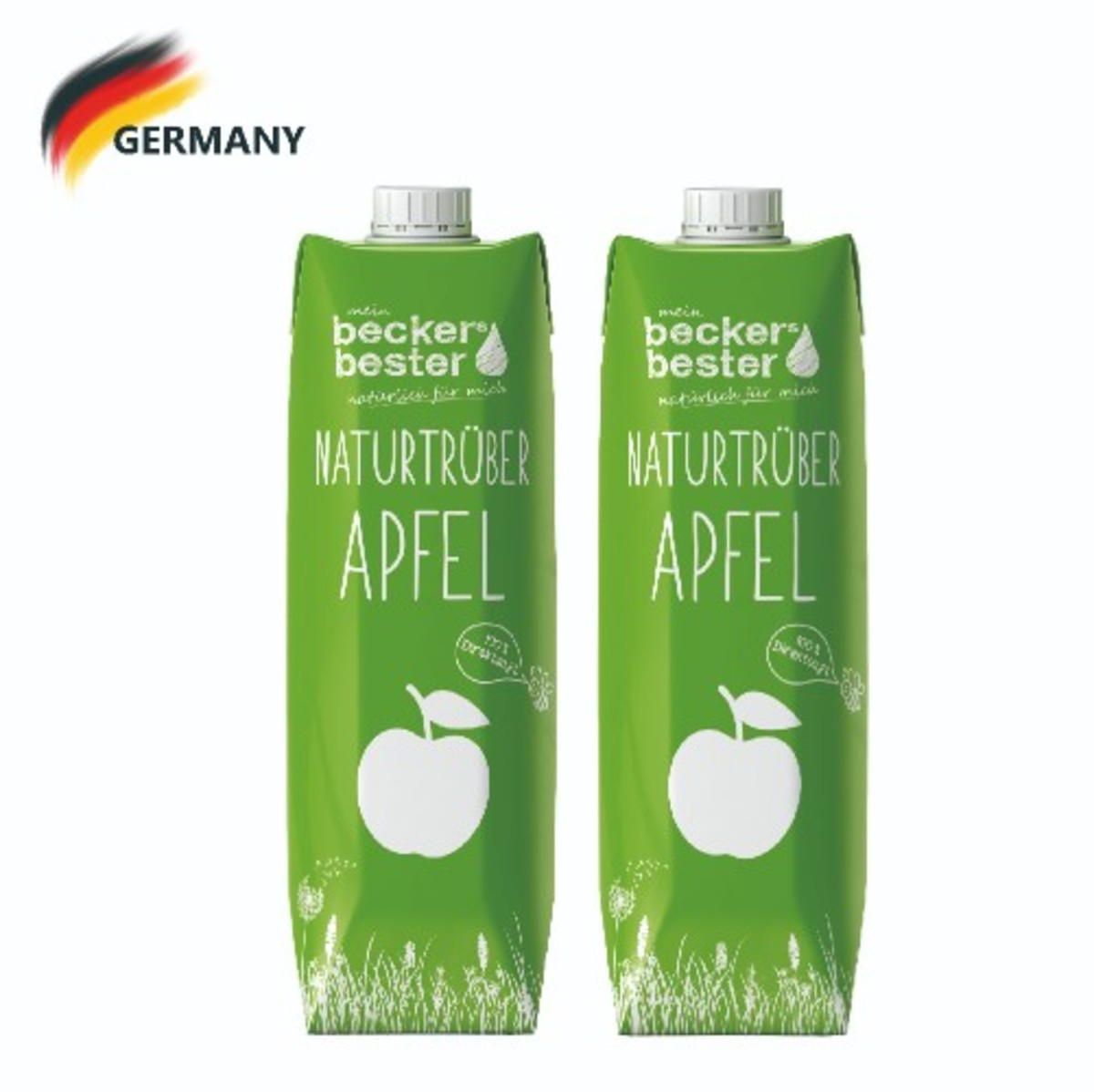 100% Direct Pressed Cloudy Apple Juice (Not-From-Concentrate) 1L x2