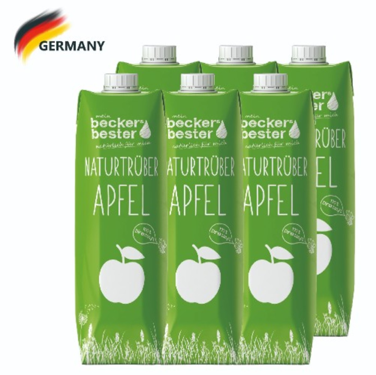 100% Direct Pressed Cloudy Apple Juice (Not-From-Concentrate) 1Lx6