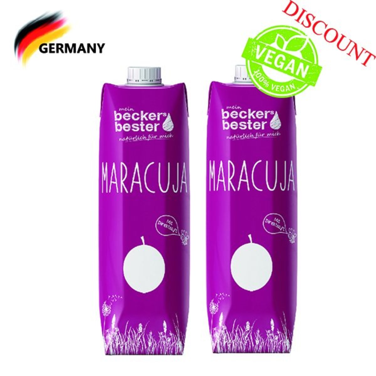 Direct Pressed Passion Fruit Nectar (Not-From-Concentrate) 1L x2 (best before date: 30/01/2020)