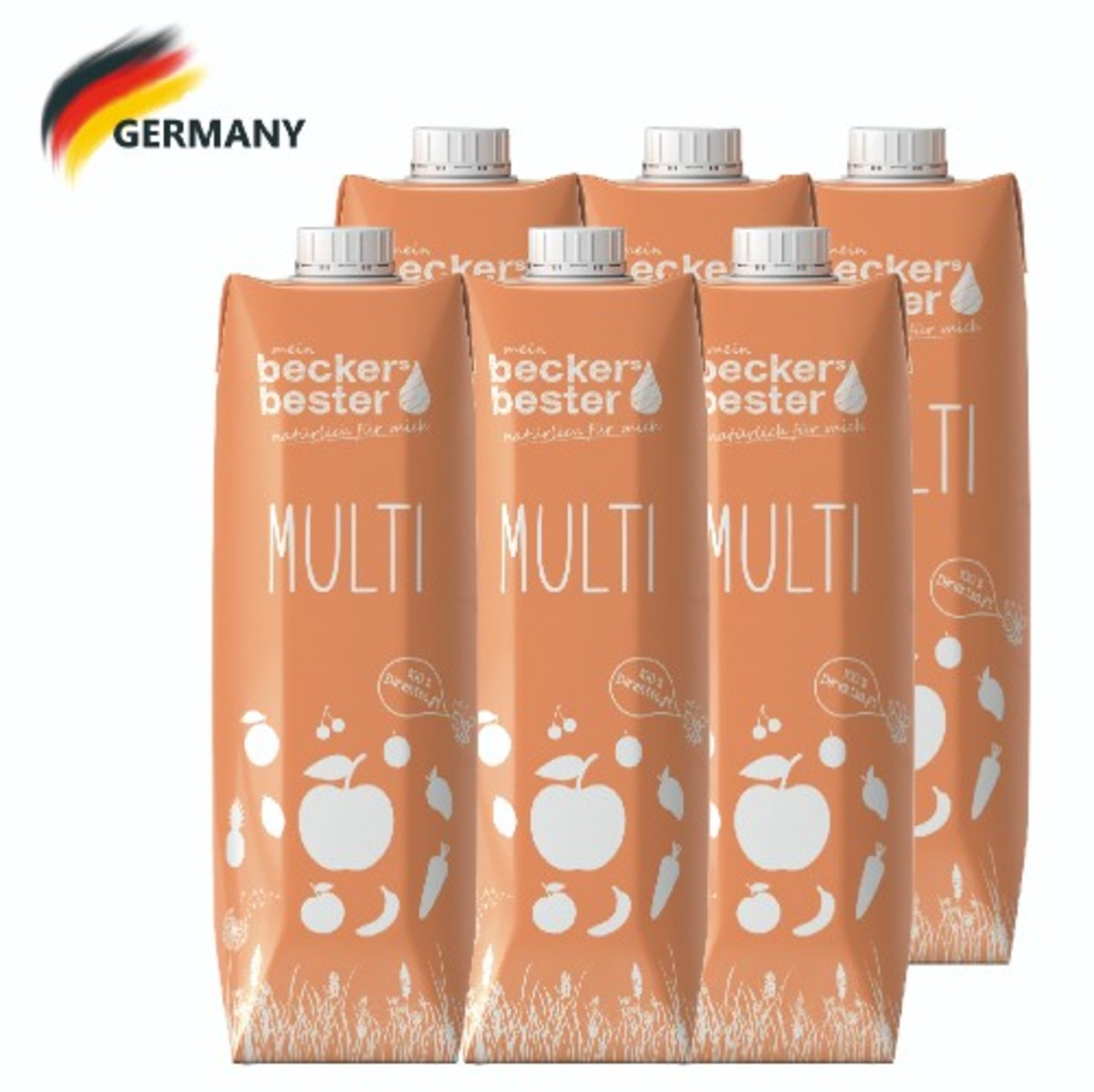 100% Direct Pressed Multi Juice (Not-From-Concentrate) 1L x6