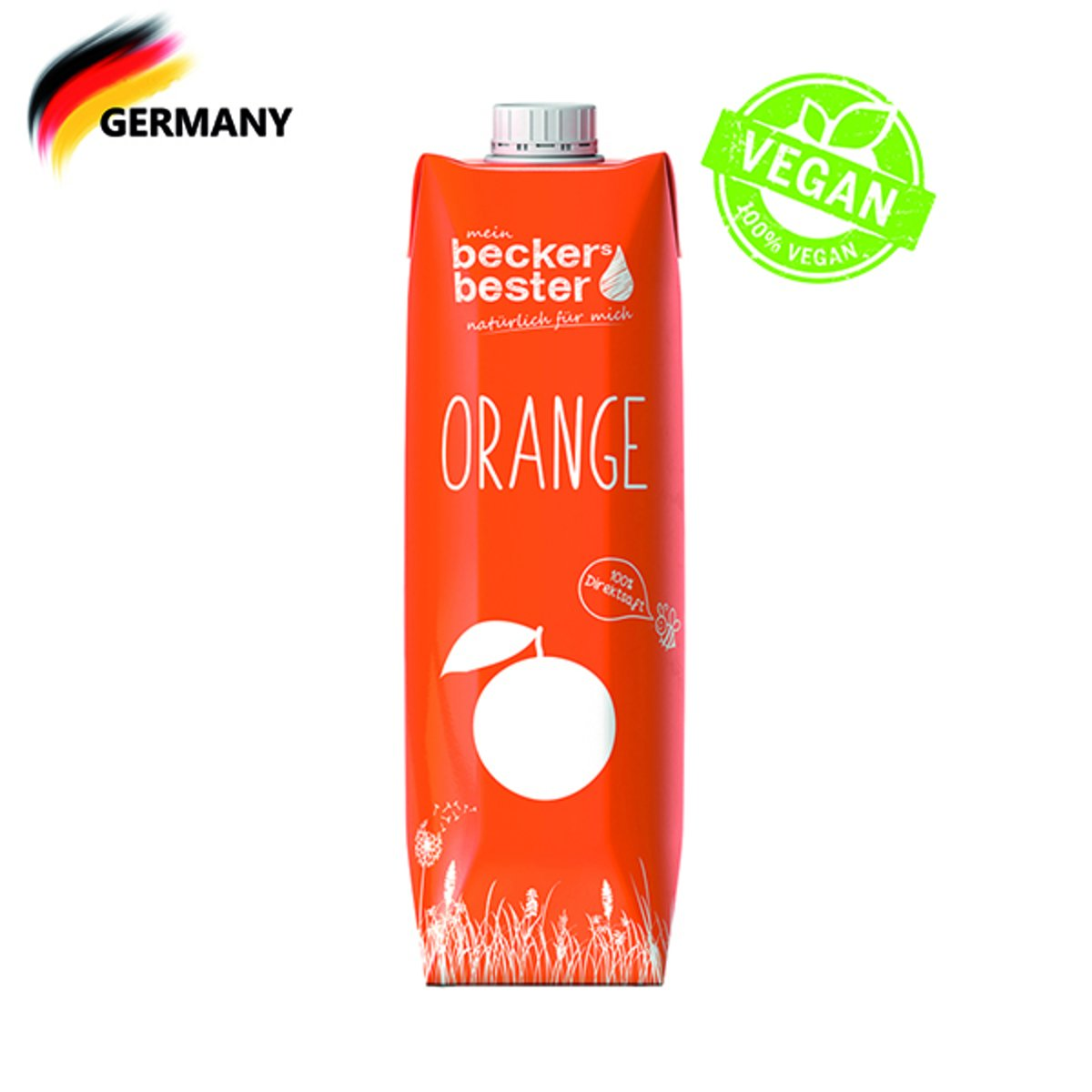100%直壓非濃縮橙汁 Orange Juice (Not-From-Concentrate) 1L