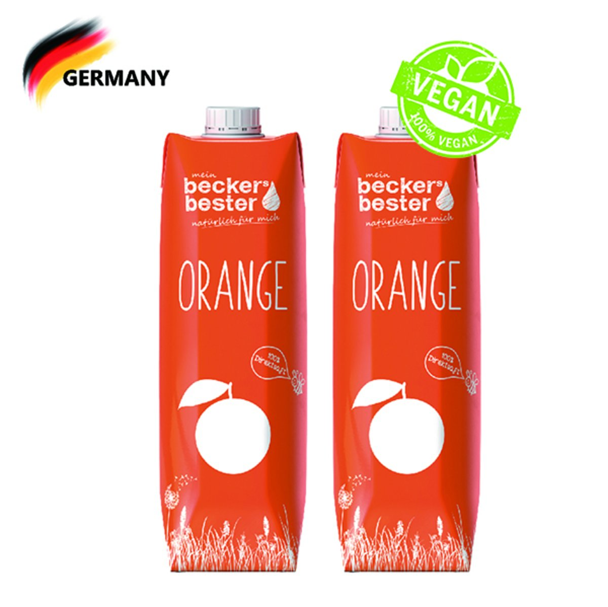 100% Direct Pressed Orange Juice (Not-From-Concentrate) 1L  x2