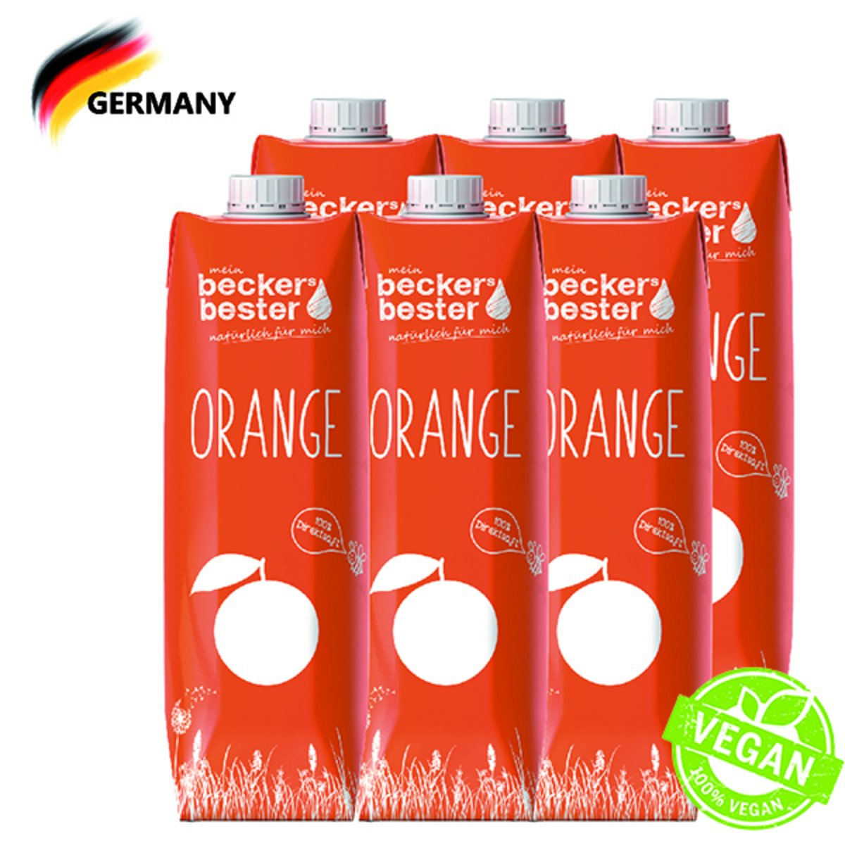 100% Direct Pressed Orange Juice (Not-From-Concentrate) 1L x6