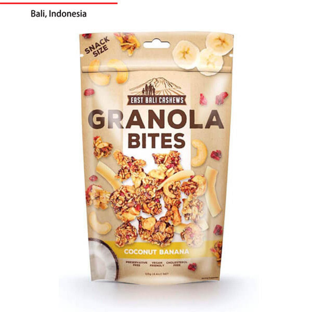 Gluten Free Granola Bites - Coconut Banana - 125g - Preservative Free - Cholesterol Free - Vegan Friendly