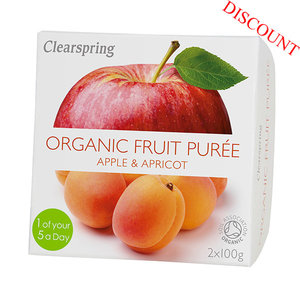 Organic Fruit Puree - Apple/Apricot - 2x100g (best before date: 30/06/2020)