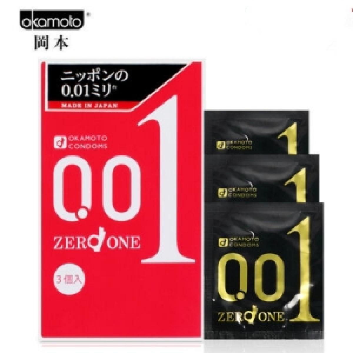Okamoto Zero One 0.01mm, 3-Pack