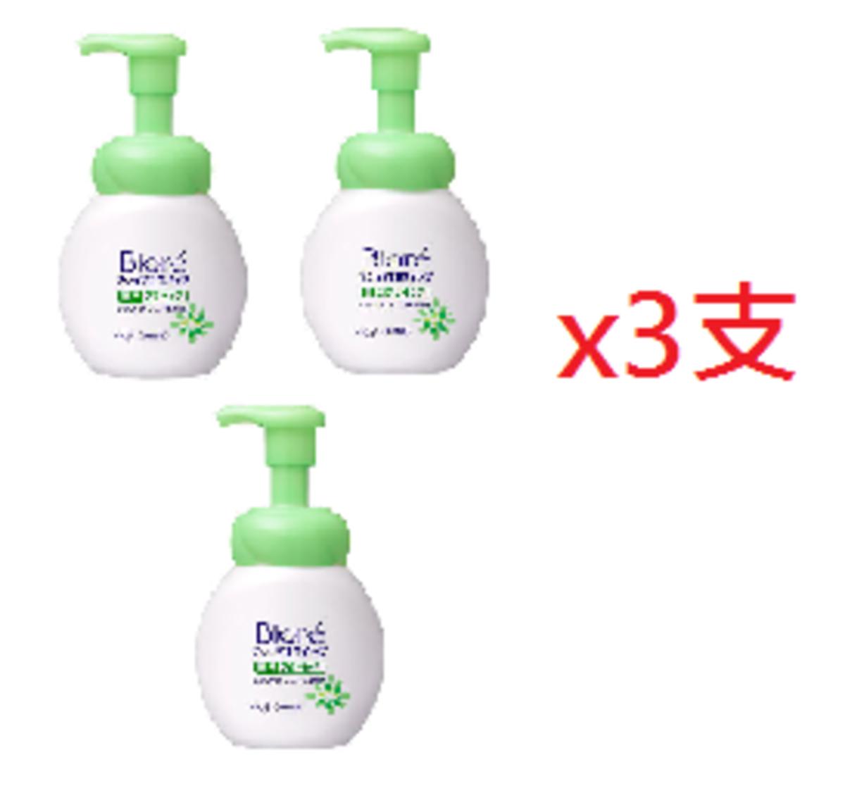 Biore bubble face Acne wash(Green) 150ml x 3 pcs