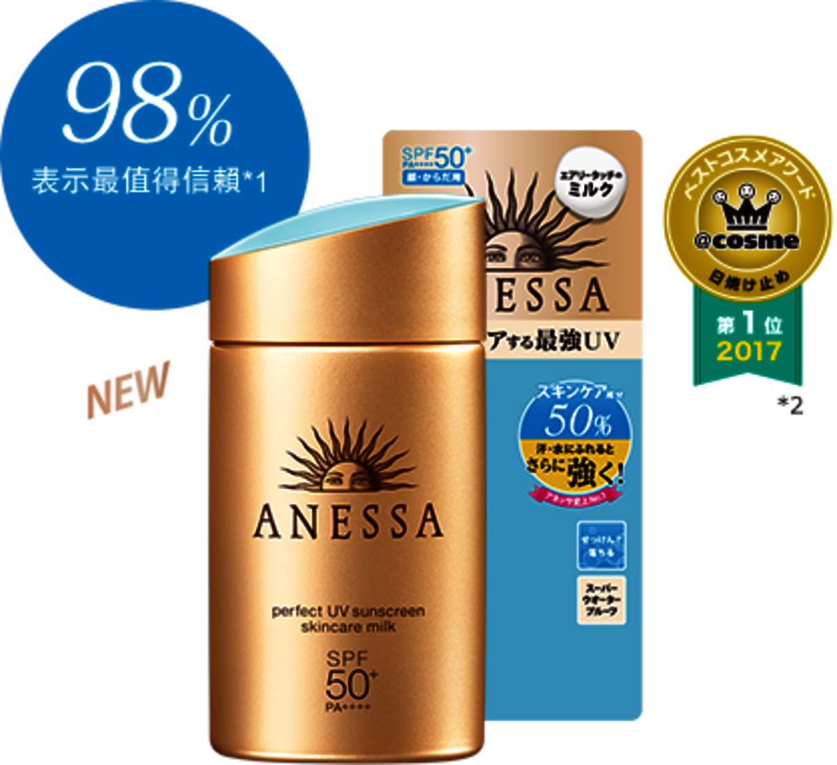 日本版 資生堂 安耐曬 防曬乳液  SPF50+ PA++++ 60ml(平行進口)