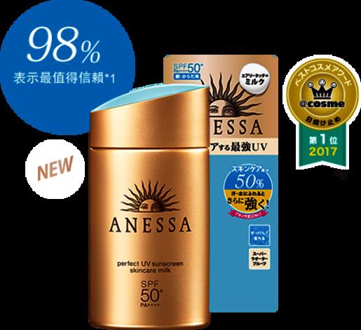 日本版 資生堂 安耐曬 防曬乳液  SPF50+ PA++++ 60ml (平行進口)