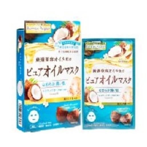 日本版  MANDOM 椰子油 嫩肌保濕面膜(4片裝)  (平行進口)