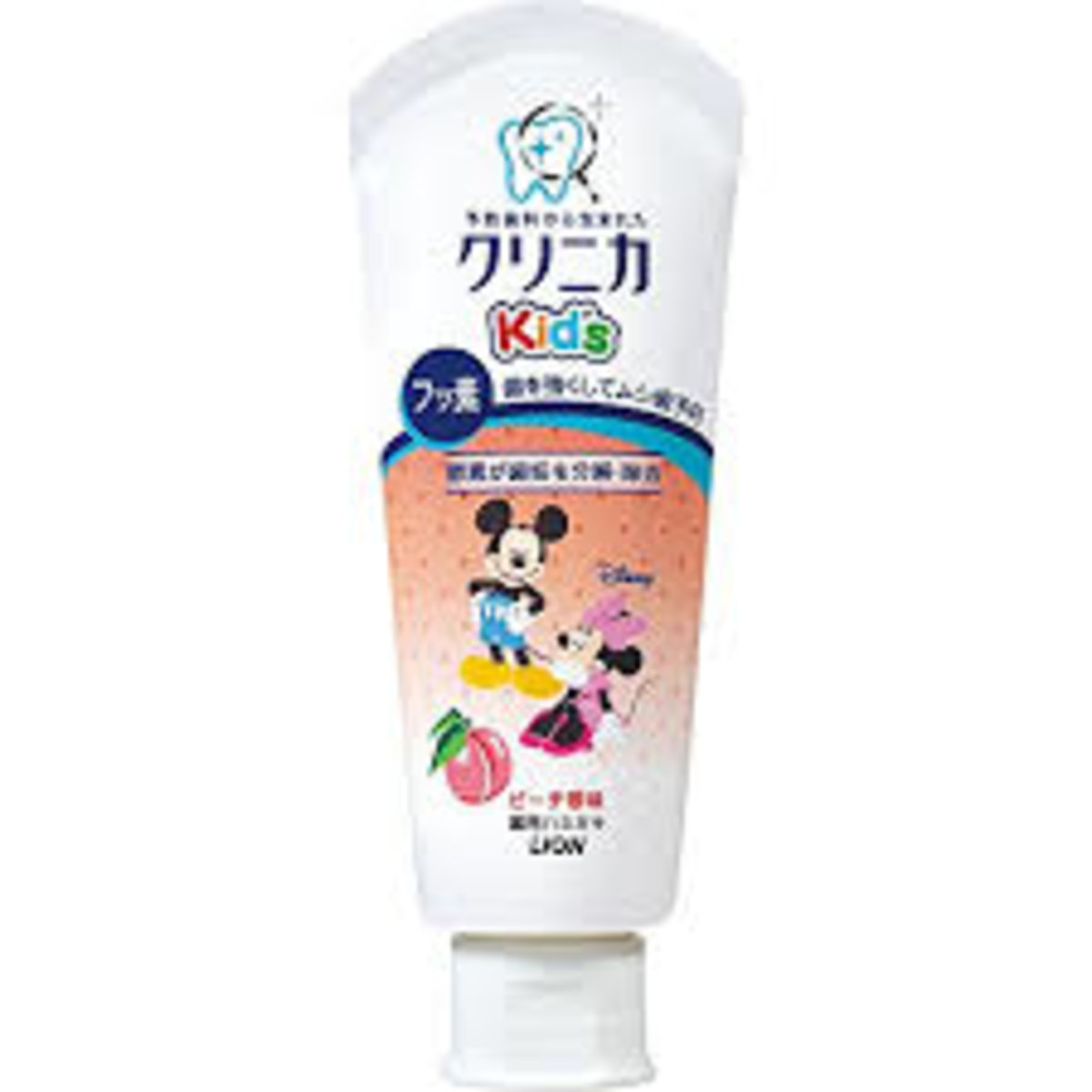 Japan Lion Clinica Kid's toothpaste fresh peach flavor (Parallel import)
