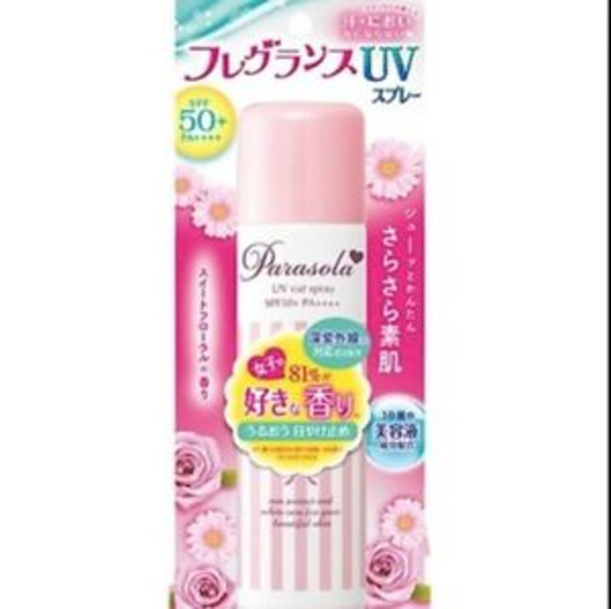 Japan Naris Up Parasola UV CUT Spray SPF50+PA++++(SWEET FLORAL) (90g) (Parallel import)