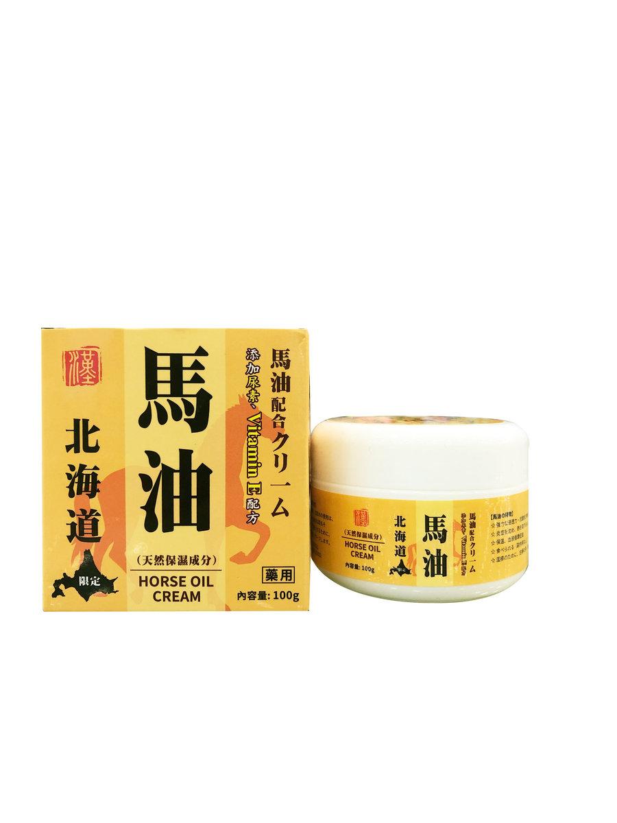 北海道馬油面部身體乳霜100ml(香港製造)