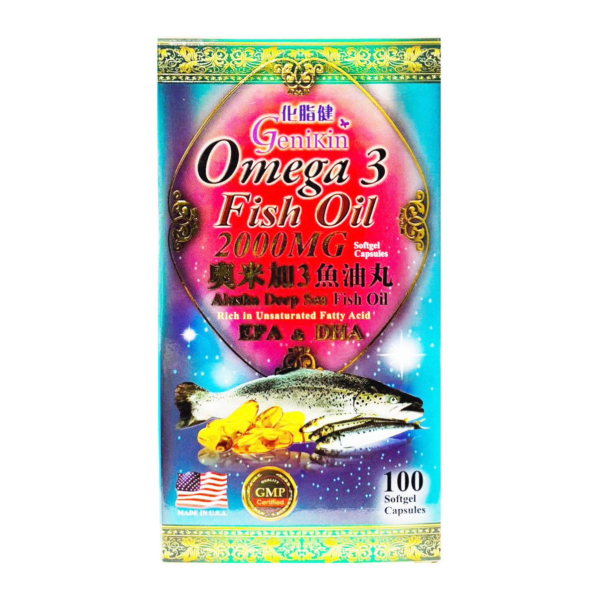 Omega 3 Fish Oil 1000mg 100 capsules (4895181902467)