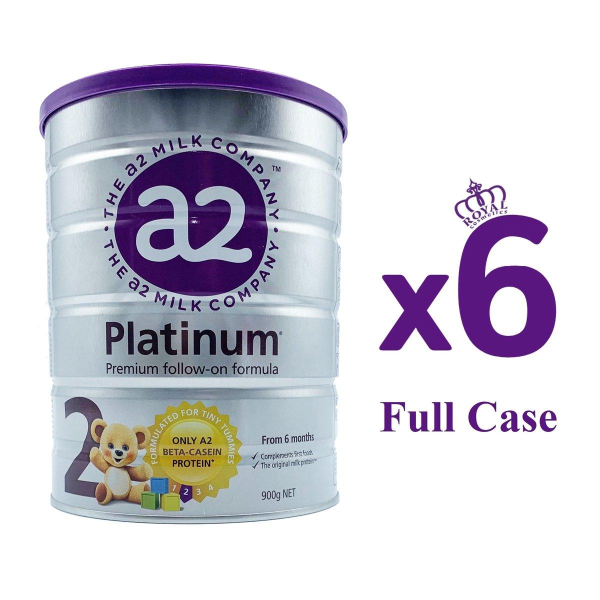 a2 Platinum 嬰兒配方2段 (原箱) 900g x 6