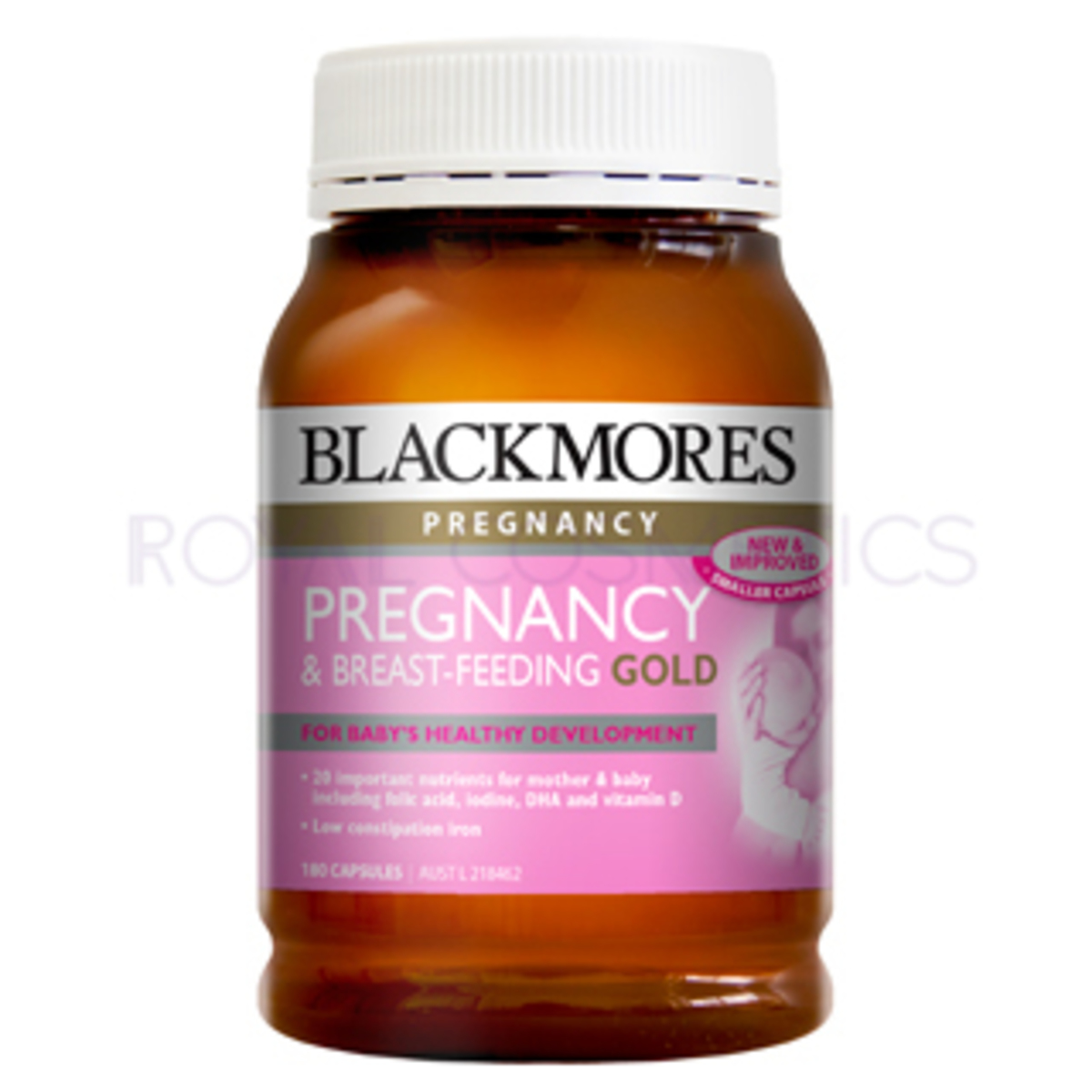 Pregnancy & Breast-Feeding Gold 180 capsules (EXP. 2020. 08) [Parallel Import] (9300807287316)