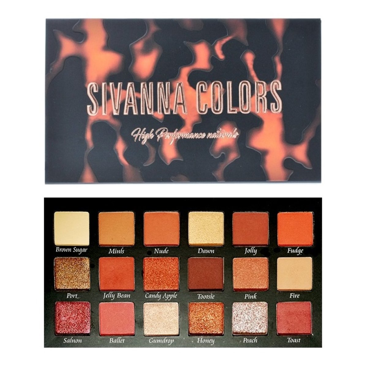 High Performance Natures 18 Eyeshadow Palette #02 Orange 18g (8858994440638)