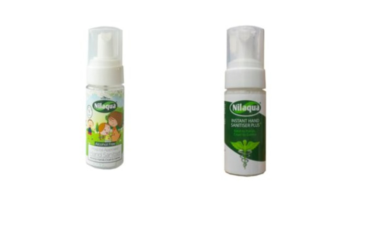 NHS UK Approved Alcohol Free Hand Sanitizer Spray & Foam set (55 ml each)