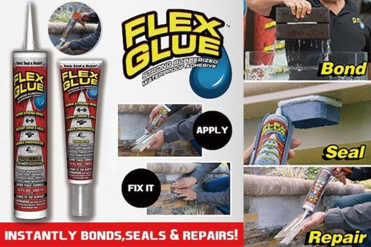 Flex Glue | Strong Rubberized Waterproof Adhesive, tube 180ml | Size
