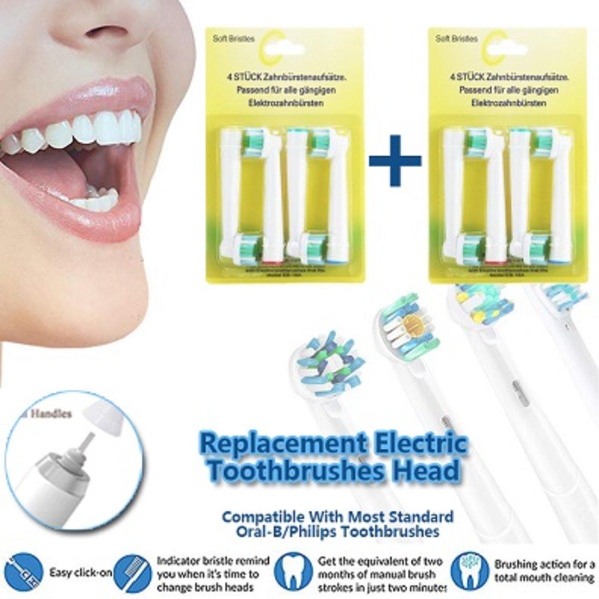 1+1 電動牙刷代用刷頭, EB-18A, 2套