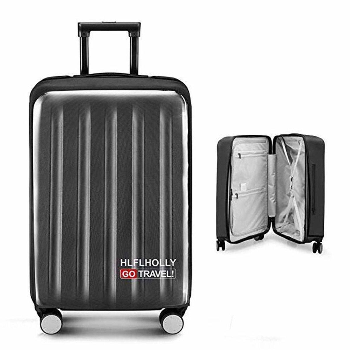 免脫卸行李箱保護套, 黑色 (28寸)