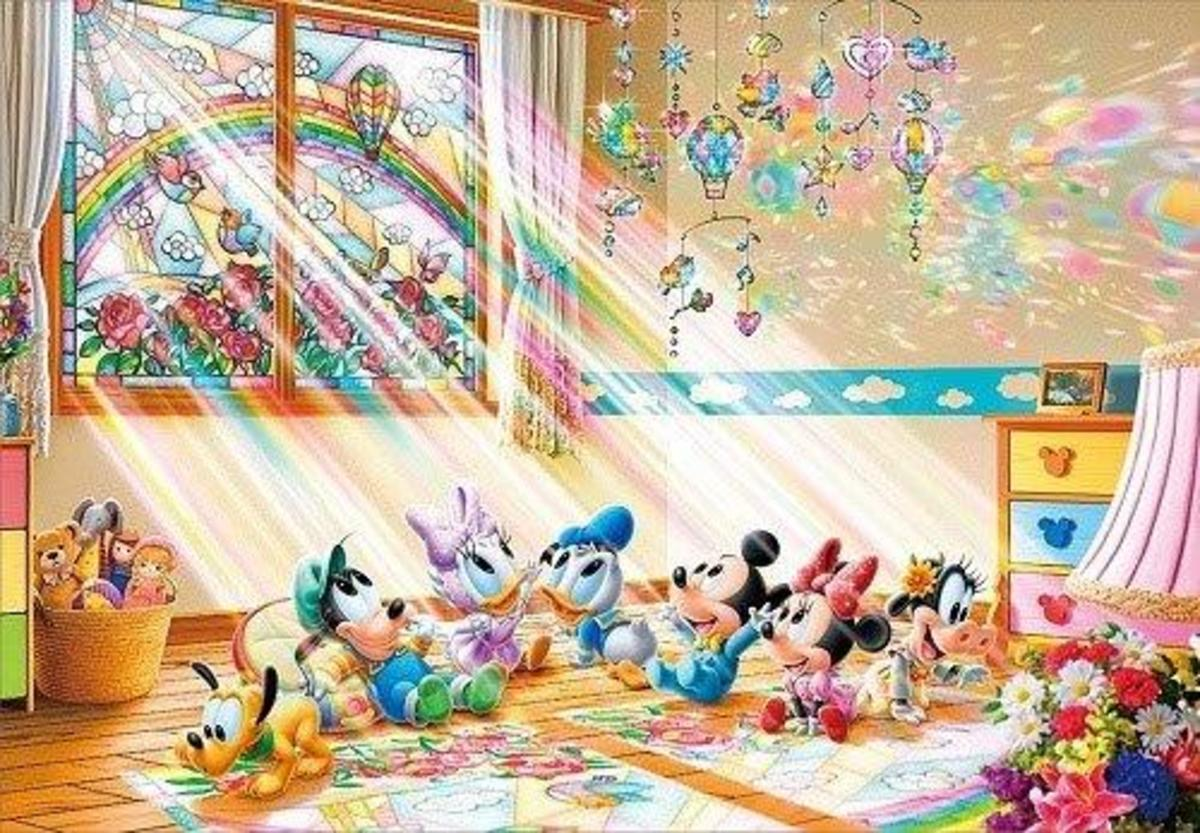Tenyo - Baby Mickey and Friends under Rainbow 1000pcs Puzzle [Licensed by Disney]