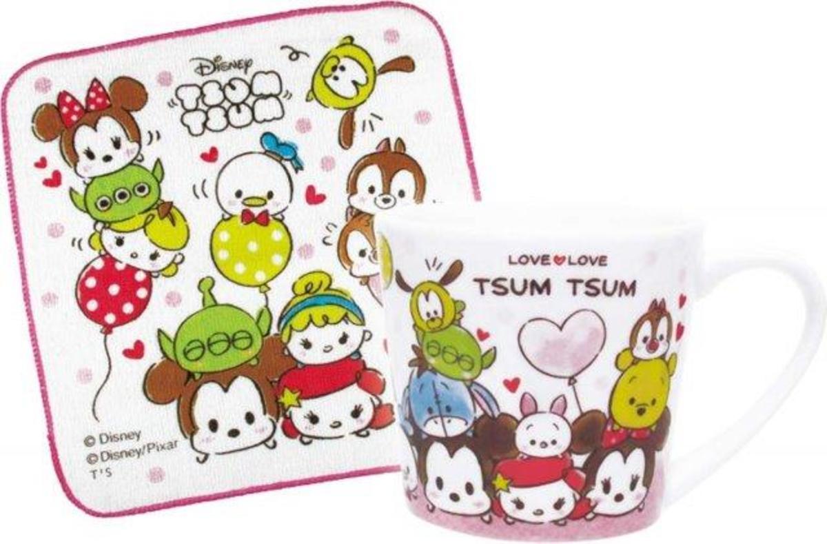 T's Factory - Disney Fun Time Mug & Towel Set  - Tsum Tsum