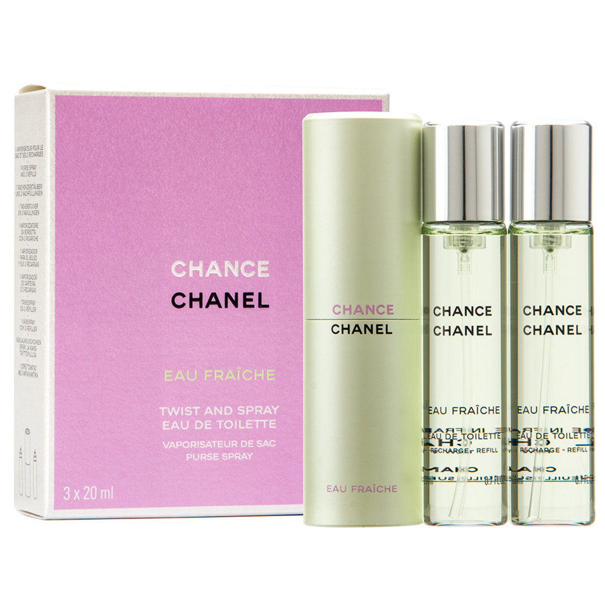 Chanel Chance Eau Fraiche Twist & Spray Eau De Toilette 3x20mL