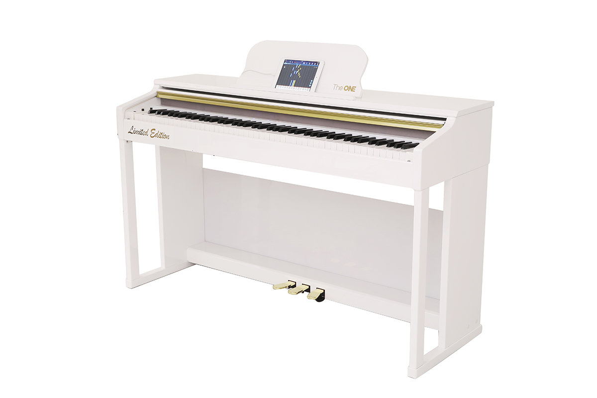 Smart Piano Top1S (piano bench is included) - Painted White