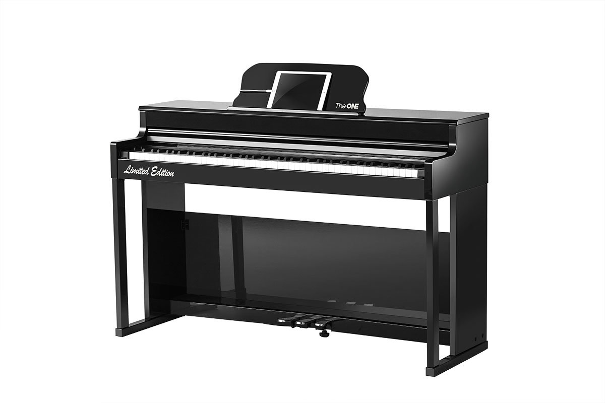 Smart Piano Top2S (double piano bench is included) - Painted Black
