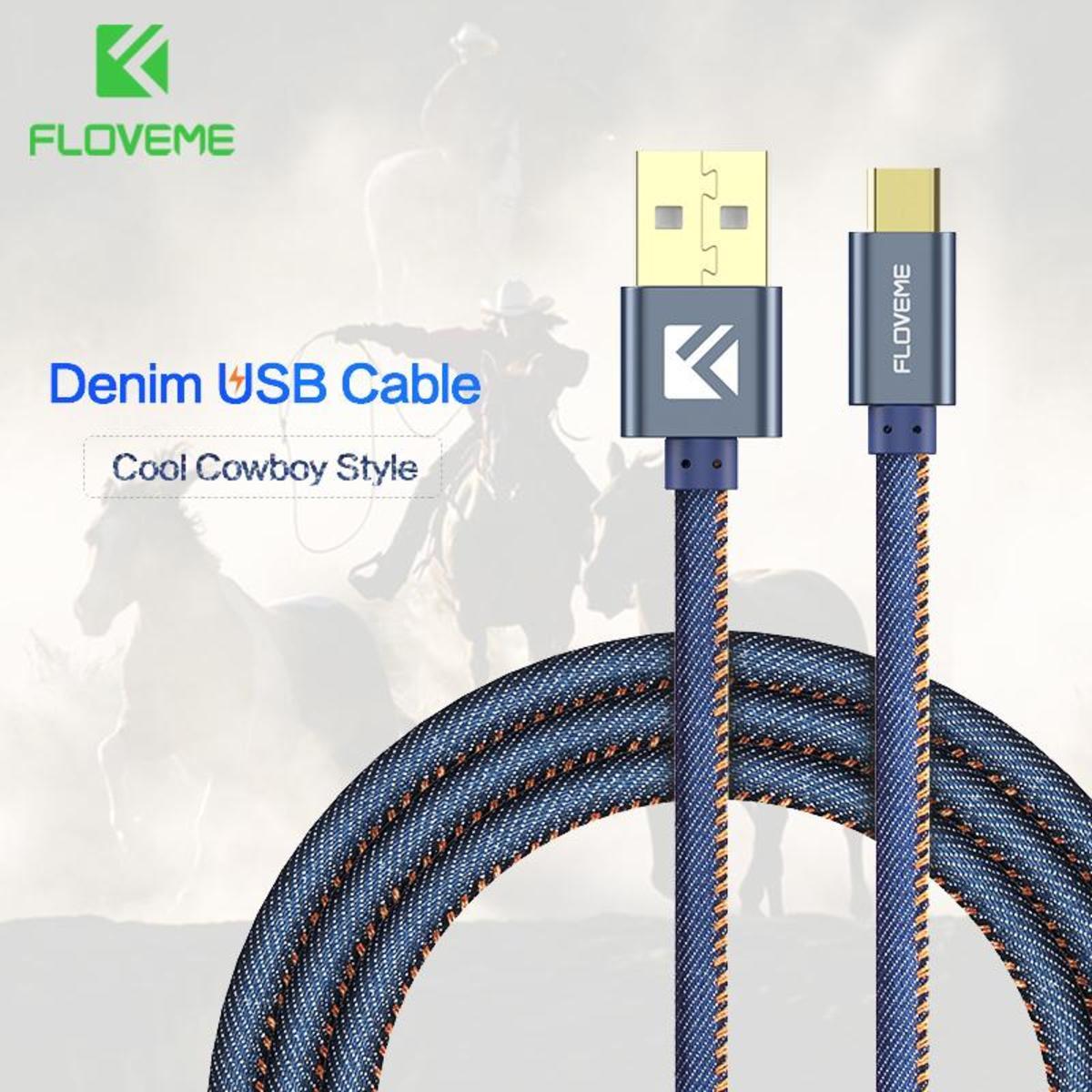 Lightning USB 牛仔布 2米 2.1A 快速 充電線 iPhone 數據線