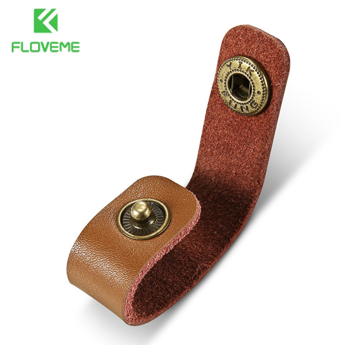 1x leather buckle for USB data cable headset