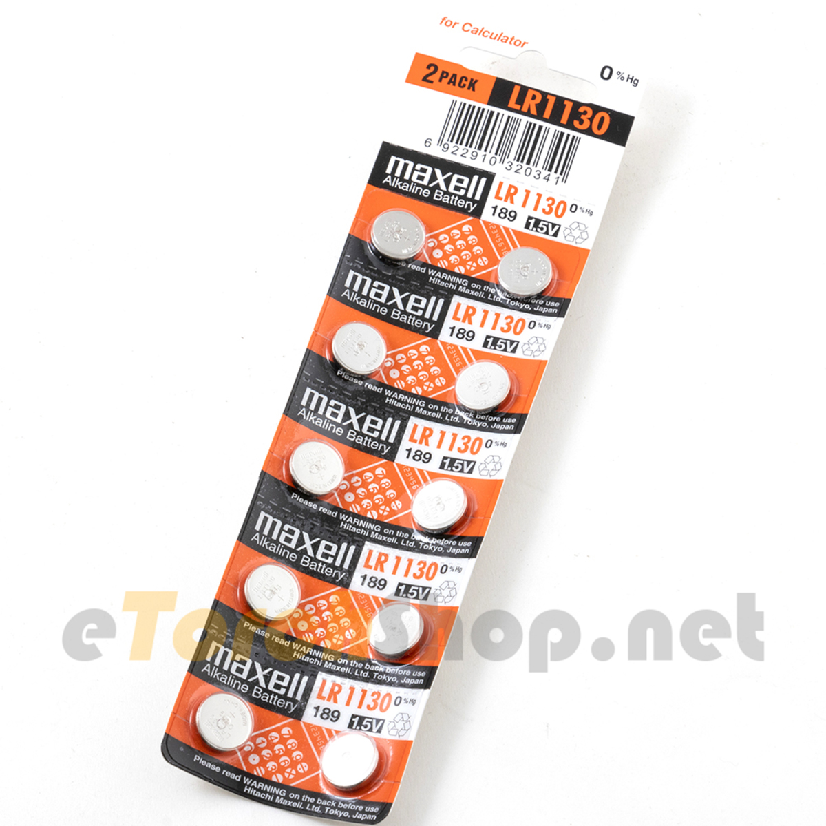 10x LR1130 1.5V Alkaline Button Cell 189 Mercury Free Battery