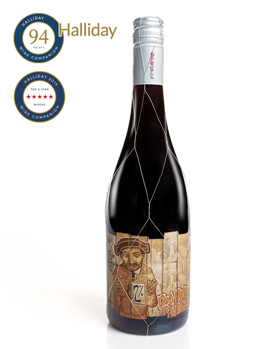 """""""2%"""" 巴羅薩切拉子紅葡萄酒 2016 750毫升"""