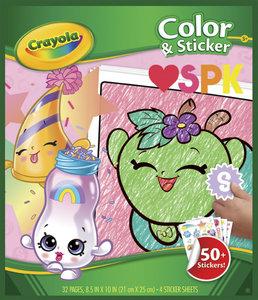 Crayola Crayola Shopkins填色及貼紙畫冊
