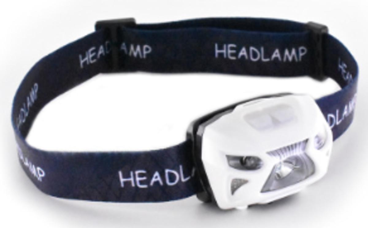 USB充電感應頭燈(白色)