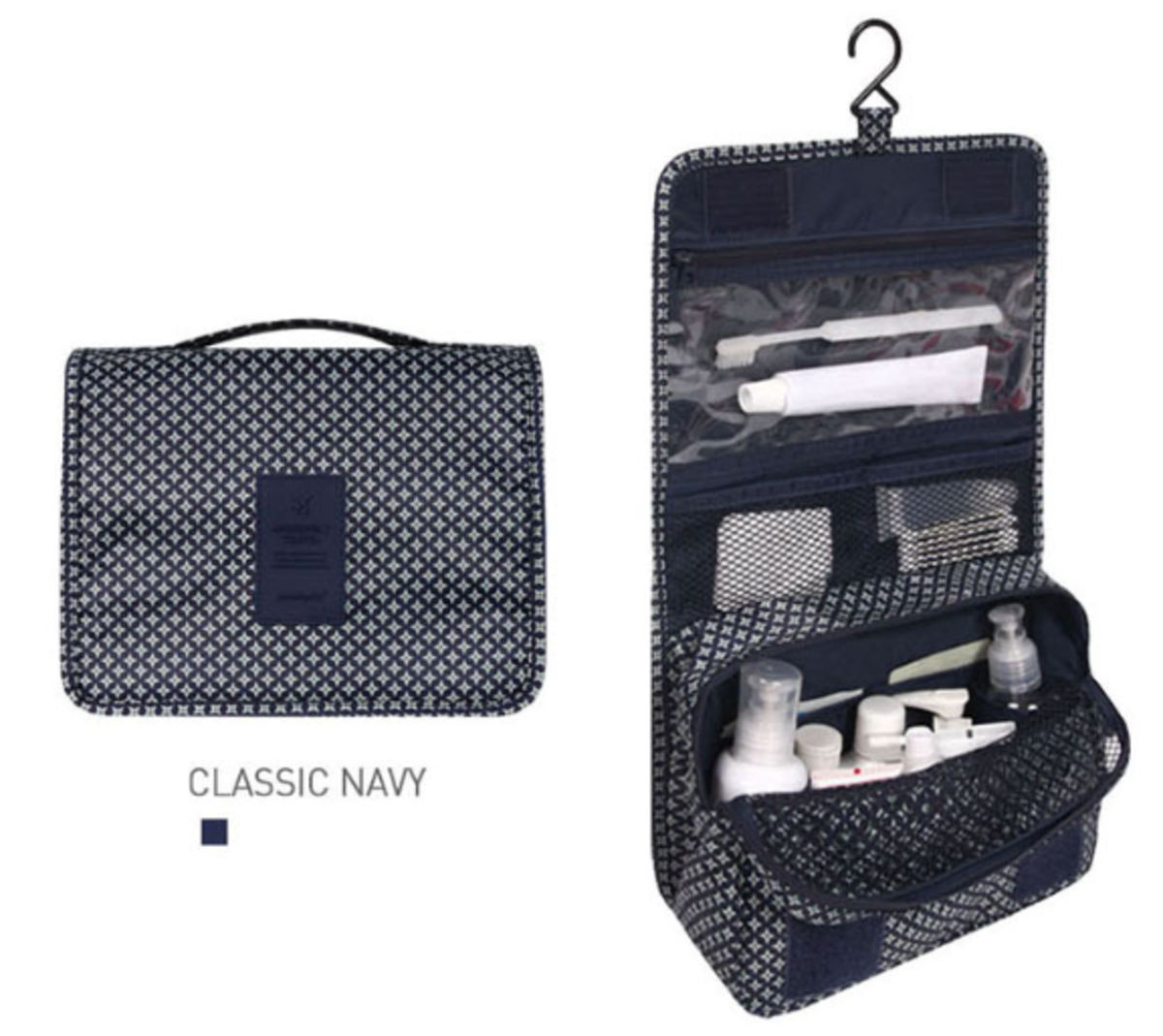 Korean Style Travel Bag (Classic Navy)