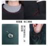 (灰白色) 和式長袖家用圍裙防滾油燙傷手