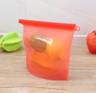 (Red)(2 pcs) Silicone Plastic Bag
