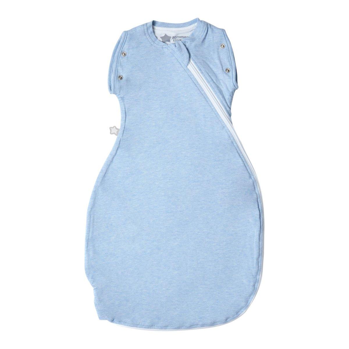 二合一睡袋 0-4個月 0.2 Tog - 藍色