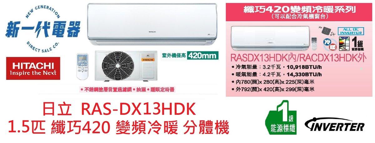 RASDX13HDK    分體式冷氣機