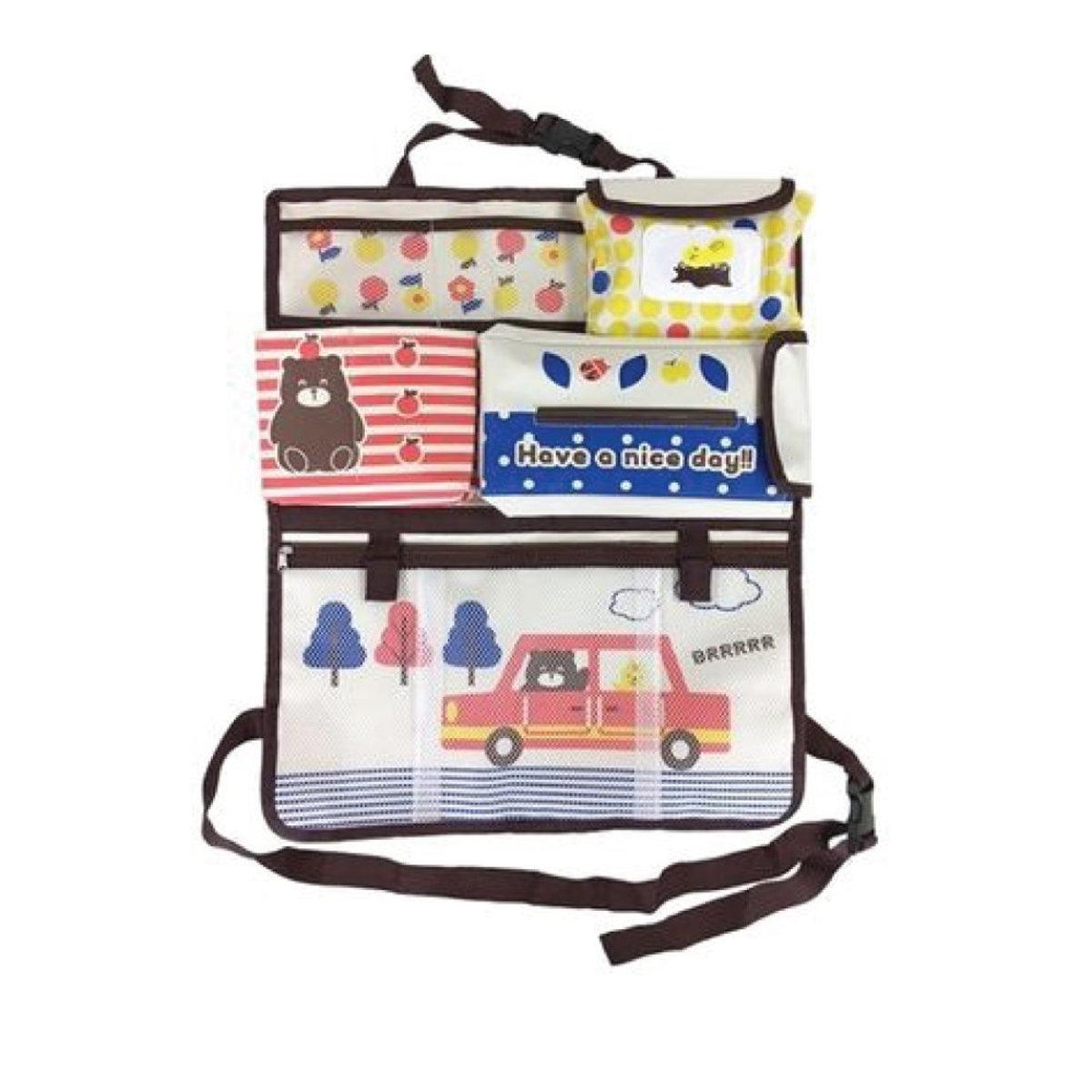 Car seat back hanging bag (Brown) (parallel import)
