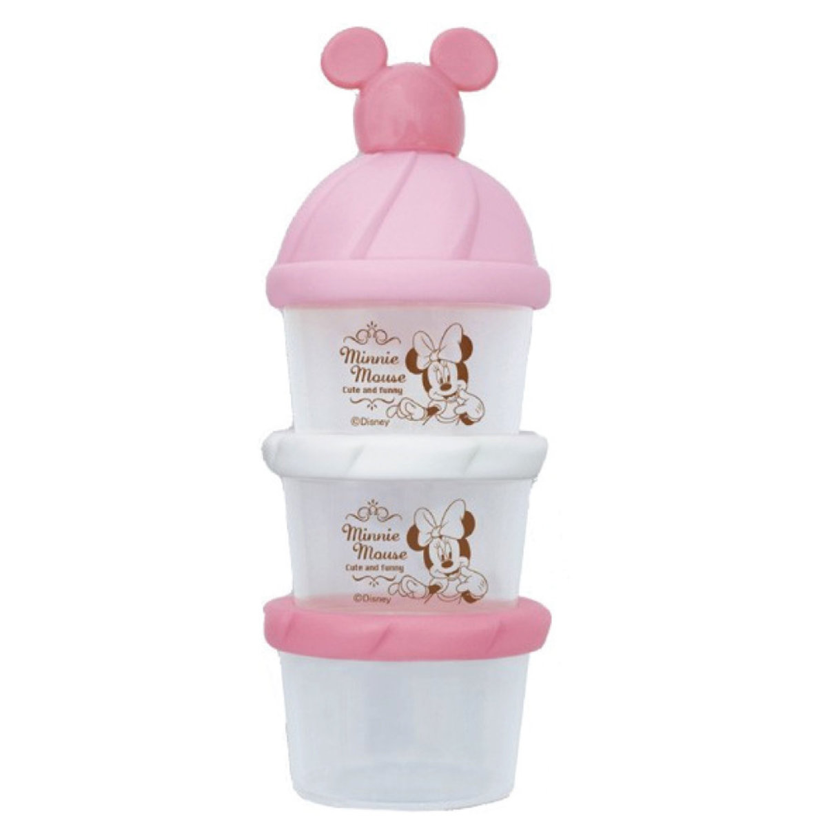 Minnie Mouse three-tiered milk powder or food box (Parallel Import)