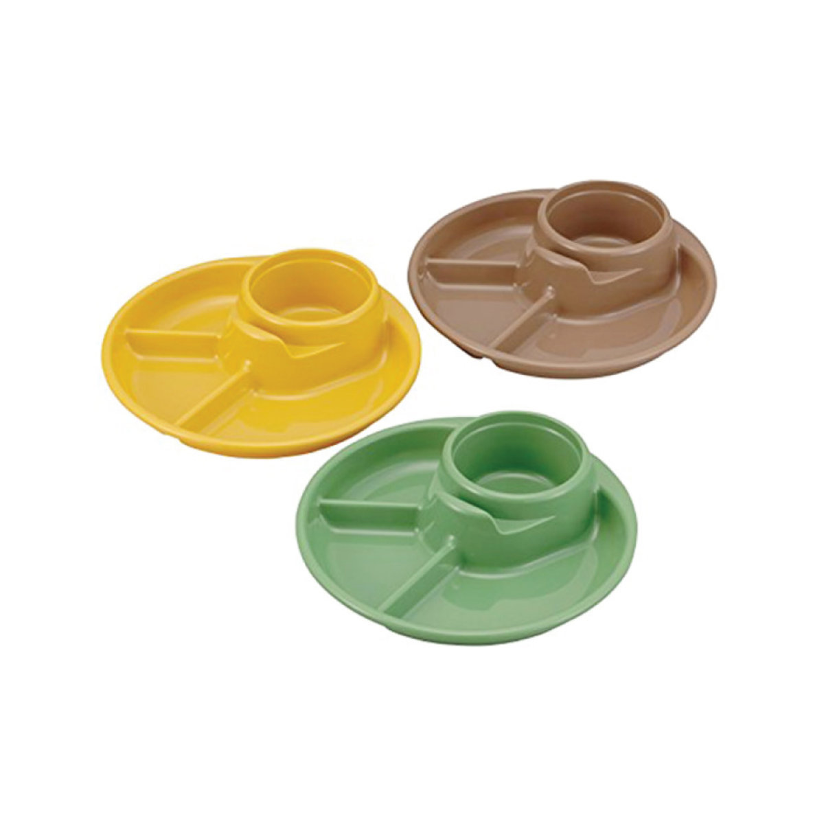 BBQ round food dish (3 packs) (parallel import)