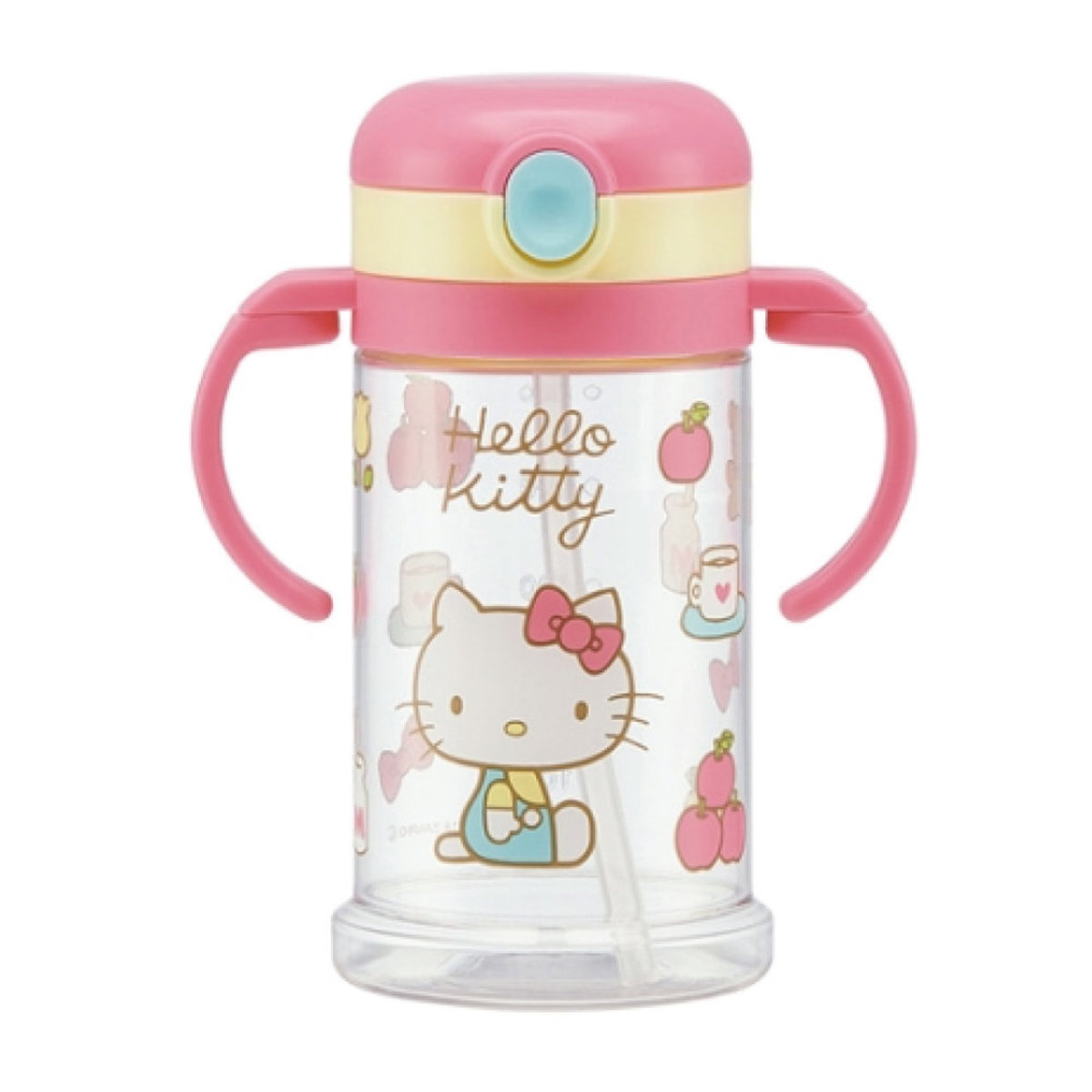 Foldablestraw type cup (Hello Kitty) 370ml (parallel import)