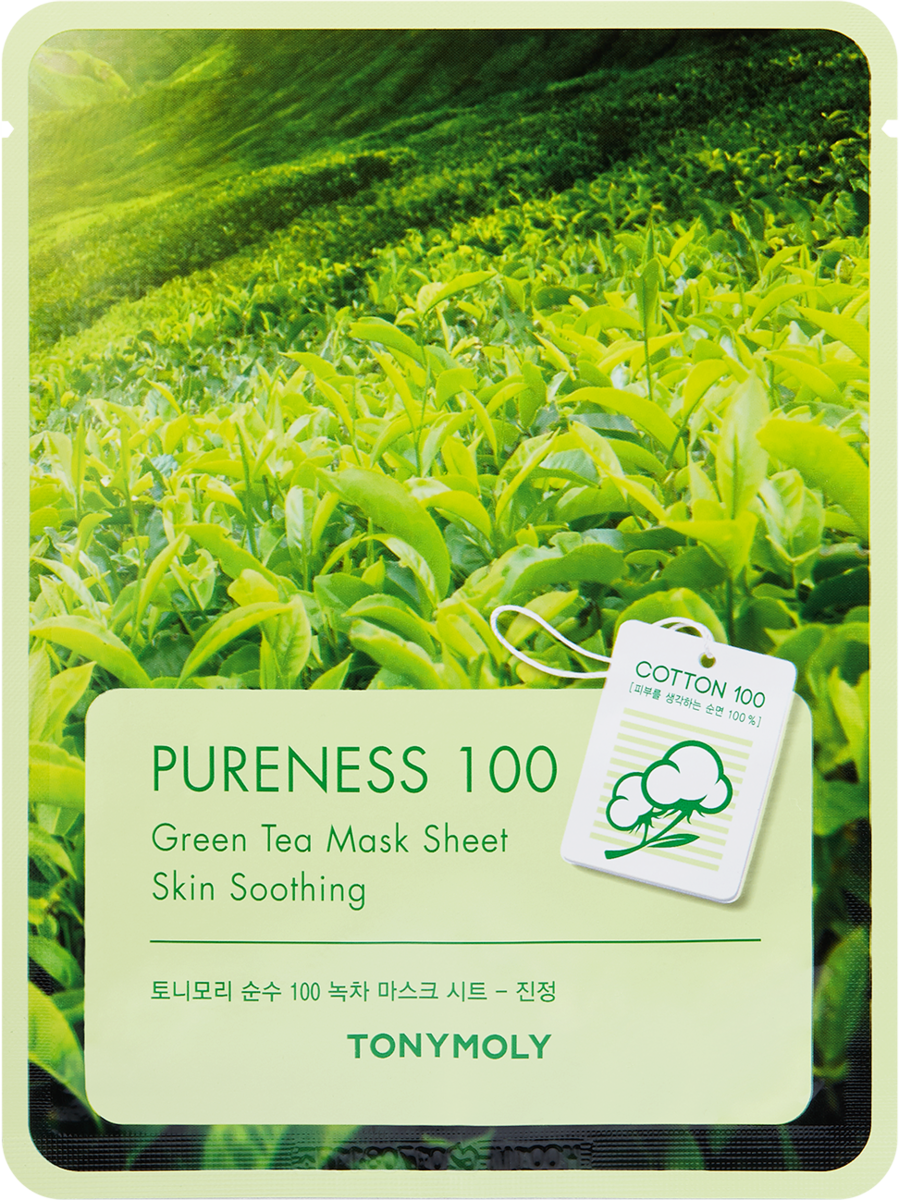 PURENESS 100 GREEN TEA MASK SHEET (10 PIECES)