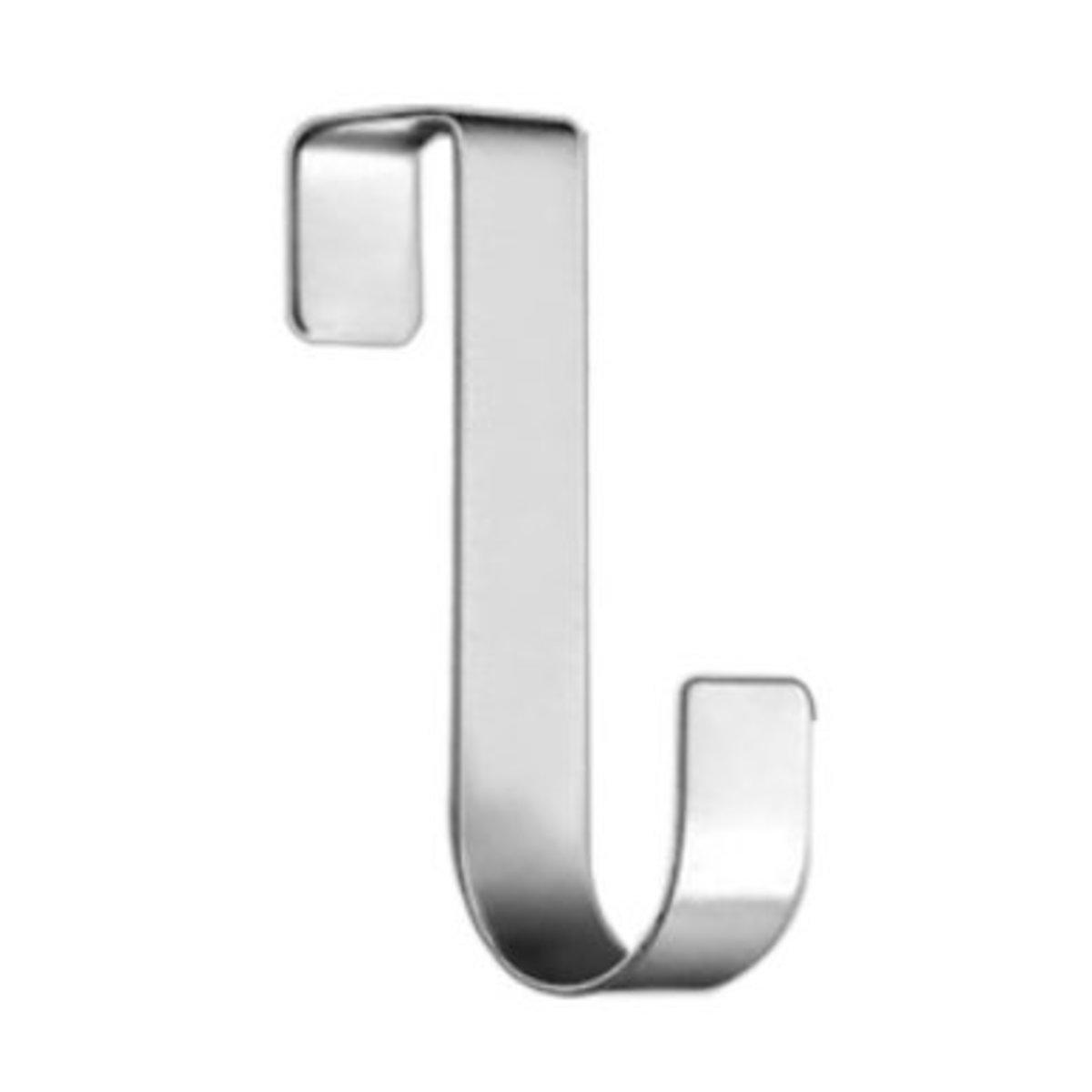 (10件裝)不鏽鋼免釘櫃門掛鉤/免釘掛勾